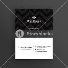 Simple Business Card Design Template Minimal Dark Business Card Design Template Royalty Free