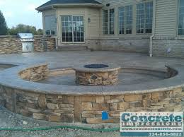 concrete patio with fire pit. Beautiful Pit Cousinos Concrete Impressions Fire Pits Patios Decks Stamped  Patio With Pit