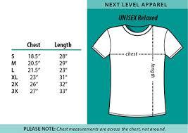 Next Level Size Chart