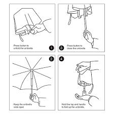 Automatic Travel Umbrella Oak Leaf Auto Open Close Foldable