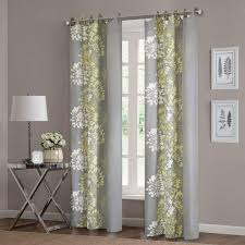 yellow and grey window curtain panels ease bedding with gray window curtains
