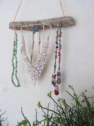 Hanging Necklace Organizer Beach Theme Wall Hanging Jewelry Organizer 155 Driftwood Jewelry