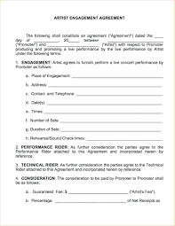 Performance Contract Templates template Artist Performance Contract Template 1