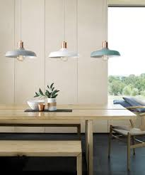 Copper Kitchen Lights Beacon Lighting Croft 1 Light Metal Pendant In Ash With Brushed