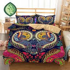 helengili 3d bedding set paisley print duvet cover set lifelike bedclothes with pillowcase bed home textiles 2 10 red duvet cover yellow duvet cover from