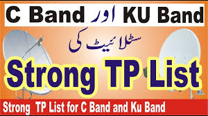 C Band Transponder Frequency Chart Strong Tp List For Different Satellite Frequency For C Band And Ku Band