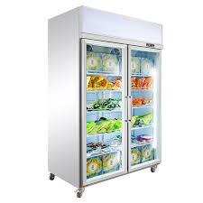 china commercial 2 door display fridge