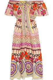 Dream Catchers For Sale Uk Temperley London Dream Catcher printed hammered silksatin dress 100