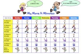 Activity Chart Kids Exercise Chart For Kids Bedowntowndaytona Com