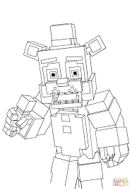Small Picture Minecraft Freddy coloring page Free Printable Coloring Pages