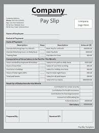 Salary Slip Word Format Payslip Template Word Format Salary Payslip Template Word Uskt Info
