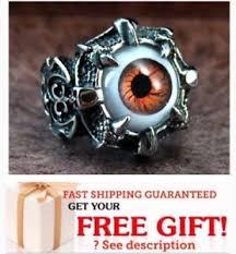 image is loading evil eye skull steel biker ring men punk
