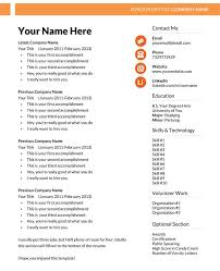 Free Resume Templates For Ms Spectacular Microsoft Word Resume