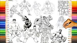 This video is about hulks superheroes coloring book pages. Hulk Coloring Pages All Hulk Coloring How To Draw Hulk Youtube