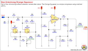 beavis audio research stompbox schematics effects this is the schematic for dan armstrong s orange squeezer