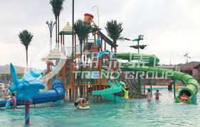 china commercial fiberglass water slides aqua playground of interactive water house supplier