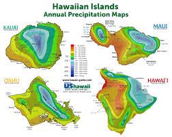 Hawaii Rainfall Chart Hawaii Weather And Climate Patterns