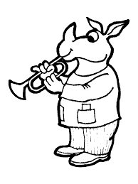 Wind Brass Instruments Coloring Pages And