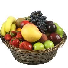 fruit basket. Plain Fruit Fresh Fruit Basket And