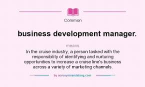 What Does Business Development Manager Mean Definition