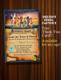 Tinkerbell Invitations Printable Tinkerbell Invitation Pirate Fairy Invitation Tinkerbell