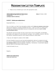 Free Resume Templates Resignation Letter Sample Thank You Gen Y
