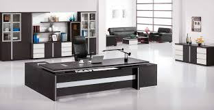 one of the best home office furniture with black office furniture set combine with white flooring best flooring for home office