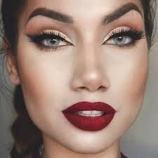 red lips eye makeup 652 best red lipstick images on burgundy lipstick make