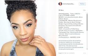 a professional makeup artist based in north carolina domonique does a lot of very colorful tutorials using bright pinks or even teals