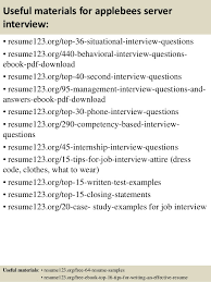 top 8 applebees server resume samples resume objectives for servers