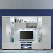 roma entertainment unit in white with