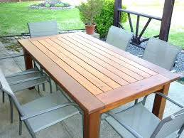 wood outdoor dining set wood dining table plans free round wood patio table plans deck table