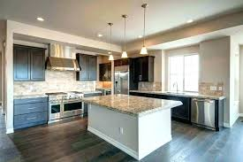 kitchen cabinets dark brown white island contemporary with and cabinetry granite countertops cabin