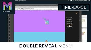 Double Reveal Menu Widget | Time-lapse | Adobe Muse CC | Muse For ...