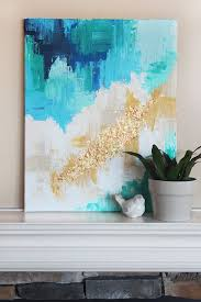 DIY abstract art tutorial, such a pretty and creative home decor idea.