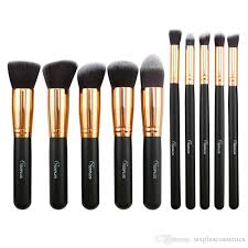 2017 best selling cosmetic tool sixplus makeup brush set portable professional wood handle make up brush set with cosmetic bag makeup set eyeshadow for