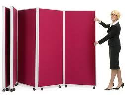 Free Standing Display Board Mobile Concertina Divider Partitions Folding display boards on 13