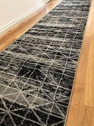 deanna modern black grey tribal hallway runner hall runner rug 4 metres long