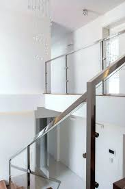 steel and glass interior stair railing how much does cost design ideas