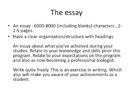 guidelines apply for positions bring your cv guidelines short  the essay an essay 6000 8000 including blanks characters 2