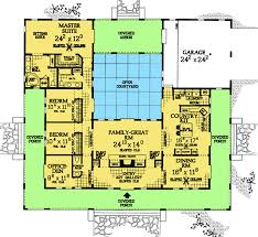 architecture courtyard house plans u shaped warm decoration with courtyards home and for regard to