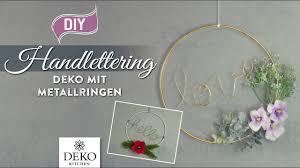 Diy Handlettering Deko Mit Metallringen Und Zweigen Deko