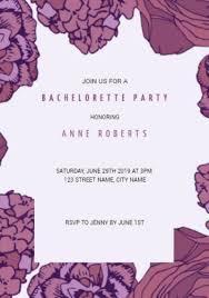 Customizable Bachelorette Party Invitation Templates 105