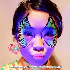 glow in the dark uv face paint makeup artist 1 jpg