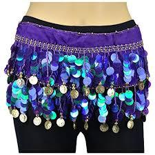 Vritraz <b>Women's</b> Chiffon <b>Belly</b> Dance Hip Scarf Waistband Belt Skirt ...