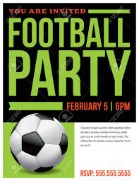 Free Football Invitation Templates A Flyer For A Soccer Football Party Invitation Template Vector