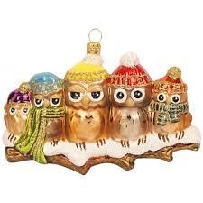 Weihnachtskugel Eulen Auf Ast Hochwertiger Christbaumschmuck Für Eine Ausgefallene Weihnachtsdekoration Hier Im Onlineshop Kaufen