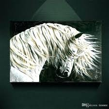 white horse canvas wall art best