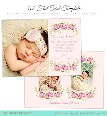 Baby Birth Announcement Photo Template Photoshop Templates – Davidpowers