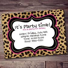 invitations to print free free printable animal print birthday invitations jins invitations